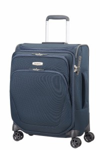 SAMSONITE TROLLEY CABINA SPARK SNG SPINNER TOP POCKET (4 RUOTE) 55CM BLU