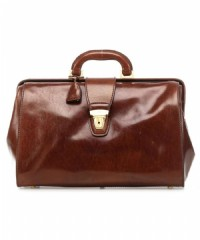 BORSA MEDICO IN PELLE THE BRIDGE 068310.01 CUOIO MARRONE