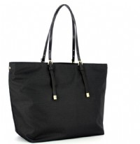 BORSA SHOPPING LARGE BORBONESE 934060 IN JET E PELLE O.P. NERO