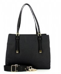 BORSA SHOPPING LARGE BORBONESE 934091 IN JET E PELLE O.P. NERO