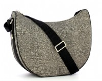 BORSA BORBONESE MIDDLE  934411.15 LUNA BAG MEDIUM JET O.P. SENZA TASCA