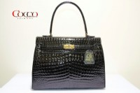 BORSA IN VERO COCCODRILLO BORRI 100% MADE IN ITALY NERO КРОКОДИЛ BAG BORRI 100%