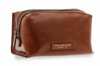 NECESSAIRE BEAUTY THE BRIDGE IN PELLE 091307.01 MARRONE