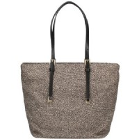 BORSA SHOPPING MEDIUM BORBONESE 934064X99 O.P. DETTAGLI IN PELLE