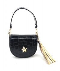 BORSA MINI BAG M*BRC IN PELLE LUCIDA COCCO CON CHARM NAPPINA