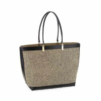 BORSA SHOPPING BAG  BORBONESE IN GRAFFITI E PELLE 903772.768.X11